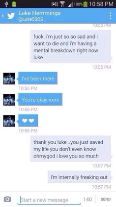 Luke's DM to a fan....<<< time for me to be a hatter but seriously don't send messages like that to the lads just for a reply. You maybe hurting but please dot put that pressure on them... Let the hate begin \(>.<\) |(>.<)| (/>.<)/