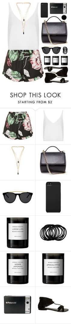 """""""RKY #83"""" by rkingy ❤ liked on Polyvore featuring Topshop, Isabel Marant, Givenchy, Smoke x Mirrors, Incase, Byredo, Polaroid, Seychelles, Deborah Lippmann and floral"""