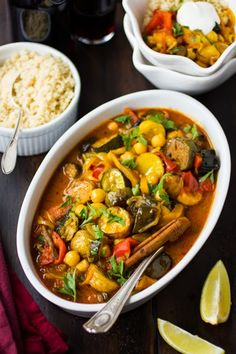 The Bojon Gourmet: Roasted Eggplant, Chickpea and Summer Vegetable Tagine One Pot Main Dish Clean Recipes, Veggie Recipes, Whole Food Recipes, Cooking Recipes, Healthy Recipes, Tagine Cooking, Bojon Gourmet, Roast Eggplant, Vegetarian Entrees