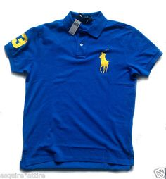 POLO Ralph Lauren Men Size M polo shirt Big Ponny Blue new with tags