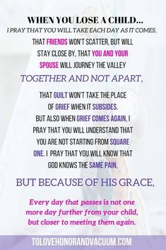 A Prayer through Tears | Prayer after Losing a Child | Prayer after Baby Dies