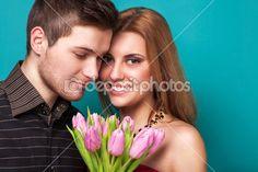 Beautiful couple. Valentine's Day — Stock Image #39898263