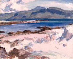Blue Sea, Iona, 1927 - Samuel Peploe.(Style: Post-Impressionism)