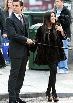 Kourtney and Scott...with his cane!