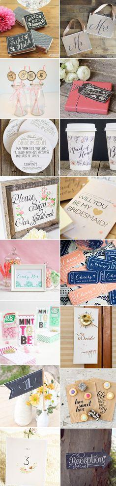 16 of the best wedding printables around...
