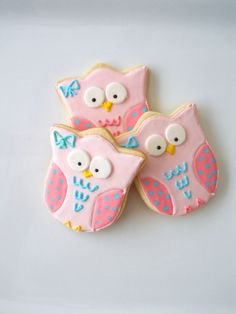 1 Dzn Sweet Owl Cookies by TheHappyCaker on Etsy, $21.95