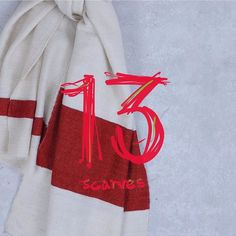 An egg advent. Day thirteen comfort and joy. 100% cashmere cream and red stripe scarf made in Kathmandu 90 x 200cm.  #cashmere #cashmerescarf #red #cream #scarf  #williamwelstead #eggtrading #christmas #present #gift #perfect #london #kinnertonstreet #freeshippinginusa #freeshipping  www.eggtrading.com