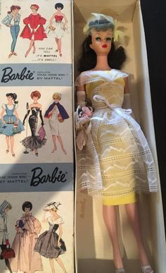 vintage barbie dressed box doll in Orange Blossom