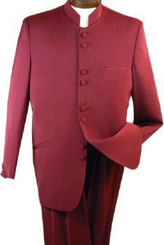 Vittorio St. Angelo Men's 2 Piece Classic Nehru Suit - 8 Button