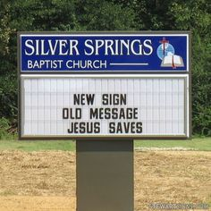 Church Sign for Silver Springs Baptist Church - Photo #2699