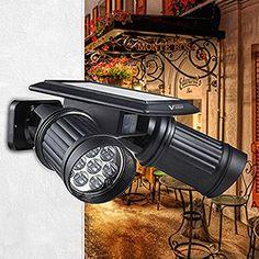 solar 2in1 waterproof 4 led solar spotlight adjustable wall light landscape light security lighting dark sensing auto onoff for pu2026