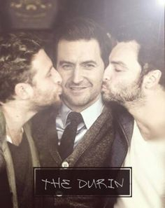 Though this is most likely Photoshoped- No way I'm NOT pinning this! Thorin, Fili, Kili