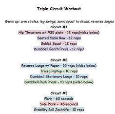 Triple Circuit Workout