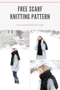 This easy knit scarf pattern is perfect for anyone who is learning how to knit. Using only garter stitch, you will create a super long cosy scarf that can be worn on the coldest of days! Christmas Knitting Patterns, Knitting Patterns Free, Free Pattern, Lion Brand Hometown Usa, Knitting Abbreviations, Types Of Stitches, Quick Knits, Learn How To Knit, Knitting For Kids