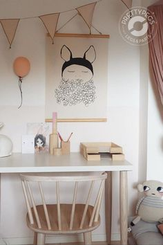 This IKEA table top is super inexpensive, and adding some legs make for the perfect small desk!💕 Finish of the look with soft tones and natural wood to recreative this look. A perfect desk for a little girl! 📸 by @elinochalva. Seen here | Carl 700 Ash Ikea Table Tops, Desk Hacks, Diy Desk, Table Legs, Kidsroom, Natural Wood, Ash, Home Decor, Bedroom Kids
