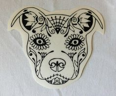 Day of the dead dog tattoo. Good for memorial.