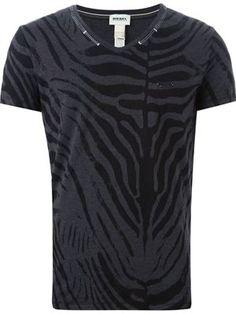 camiseta con estampado de cebra