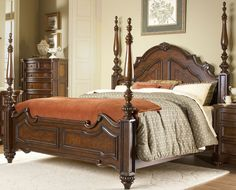 King Poster Bedroom Set 1390K-KBS Prenzo, Furniture Factory Direct
