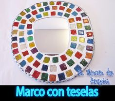 DIY como hacer un marco con teselas de cd reciclados