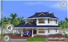 Kerala House Models Plans Photos | 90+ Double Storey Homes Online Kerala Traditional House, Traditional Style Homes, Traditional House Plans, House Plans With Pictures, House Design Pictures, Small House Design, Beautiful House Plans, Beautiful Home Designs, Latest House Designs