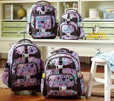 I love the Mackenzie Lavender Owl Backpacks on potterybarnkids.com