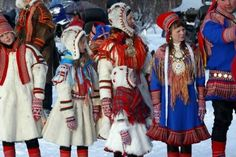 The Sami Tribe or Saami Tribe are reindeer herders. Finland, Sweden, Norway, Russia and Lapland. Folk Costume, Costumes, Kola Peninsula, Lappland, Thinking Day, People Of The World, Fantasy, Traditional Dresses, Samara
