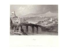 size: Giclee Print: Bray in County Wicklow by William Henry Bartlett : Botanical Bray Ireland, Gradient Color, Printing Process, Old Photos, Framed Artwork, Find Art, Giclee Print, Around The Worlds, Gallery