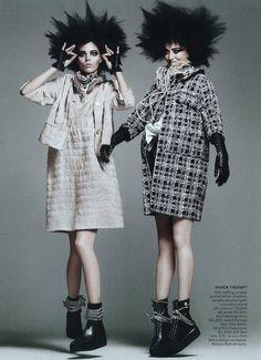 """US Vogue March 2011 """"Punk'D"""" With Eras."""