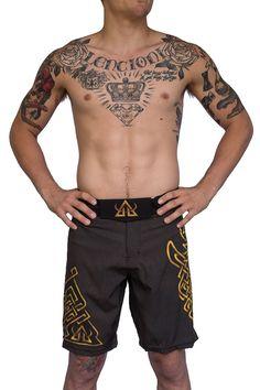 08d4136461e2f Performance - Shorts - Gold and Brown. Mma ShortsMma TrainingJiu Jitsu