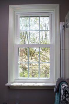 Marble window sill
