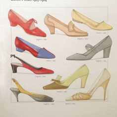 Vintage 1960s Shoe Designs 1963-64 - Shoes are the most important part of fashion, of course