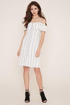 Contemporary Striped Dress - Dresses - Day Dresses - 2000168817 - Forever 21 EU English