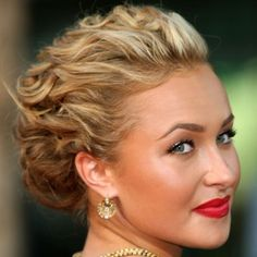 Love the wavy/curly up-do
