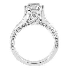 Round Diamond Trellis Engagement Ring