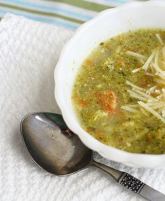 Broccoli Soup - butter/olive oil (would reduce), onion, carrots, mustard seed, sea salt, pepper, broccoli, low sodium chicken broth, water, lemon juice, reduced fat sour cream