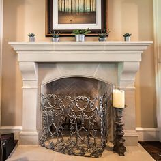 The old English charm of the Amhurst fireplace mantel is a functional design that complements a diverse array of décor and styles.