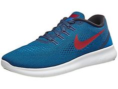 new arrival d69a0 8bae7 cool Nike Mens Free Running Shoes (10.5, Squadron Blue Gym Red Blue