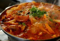 Budae-jjigae (Army Base Stew). Absolutely amazing..!!