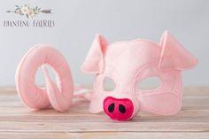Apple+die+rosa+Schwein-Maske+und+Schwanz+für+von+HuntingFaeries