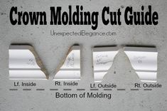 Tips for Hanging Crown Molding Like a Pro Have you always wanted to add crown molding to a space but are paralyzed by fear of not doing it right? Get some awesome Tips for Hanging Crown Molding Like a Pro.from a NON-PRO! Do It Yourself Furniture, Do It Yourself Home, Home Improvement Projects, Home Projects, Design Projects, Home Renovation, Home Remodeling, Kitchen Remodeling, Cut Crown Molding