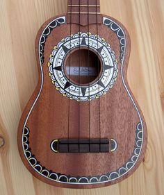 Hand painted mahogany soprano ukulele