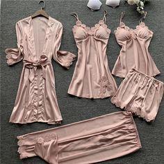 Cute Sleepwear, Satin Sleepwear, Satin Pajamas, Sleepwear Women, Sleepwear Sets, Sexy Pajamas, Cute Pajamas, Pajamas Women, Suits For Women