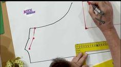 MOLDE DE UN VESTIDO MUSCULOSA  Hermenegildo Zampar - Bienvenidas TV en HD - Explica el MOLDE DE UN VESTIDO MUSCULOSA Clothing Patterns, Dress Patterns, Sewing Patterns, Learn To Sew, How To Make, Crochet Decoration, Couture, Sewing Techniques, Pattern Making
