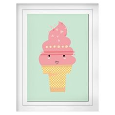 Ice Cream Twist Cone Framed Art - Pillowfort™