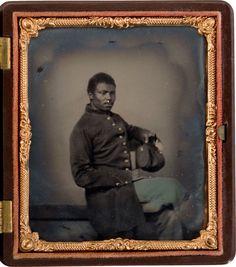 ca. 1860's, [tintype portrait of a Union infantryman with regulation uniform] via Heritage Auctions