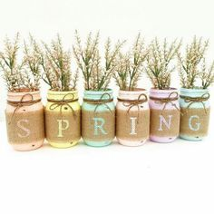 FB post - Love these spring mason jars!  available:: http://tidd.ly/64d53d88