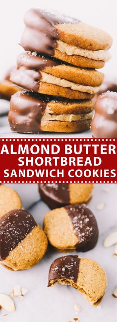 almond butter shortbread cookies 2 ways almond butter shortbread ...
