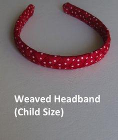 Red polka dot weaved headband