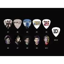 10 Palhetas Personalizadas One Direction Frete Grátis-leia