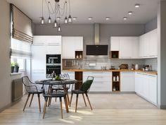 Кухня в стиле светлый лофт